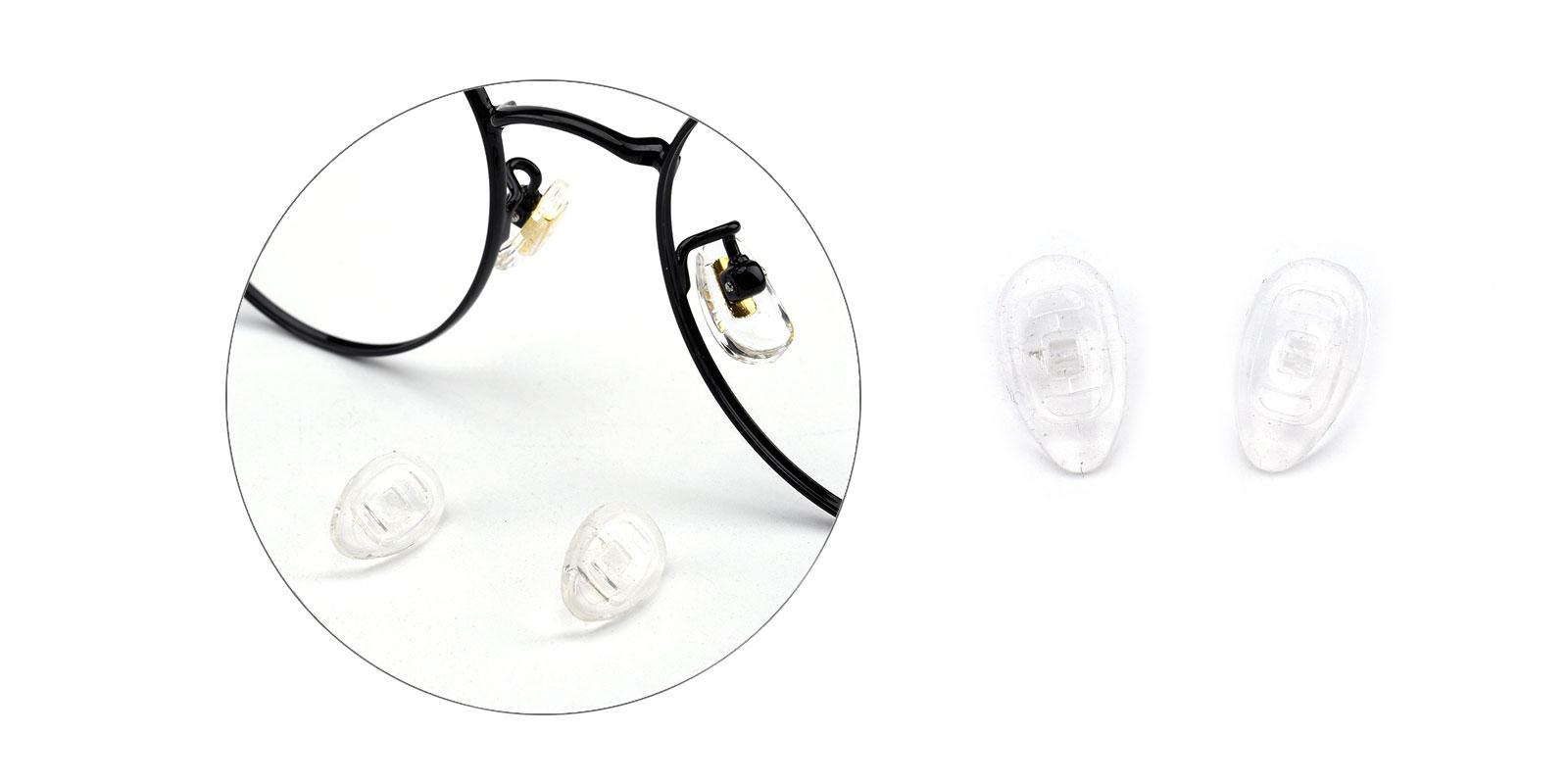 15mm Clip-on Replacement Nose Pads-Translucent---Eyeglasses-additional1
