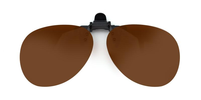 Aviator clip-on-Brown-other