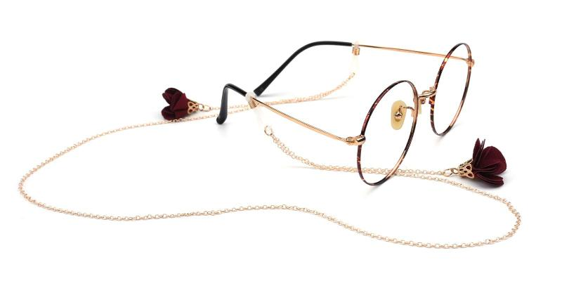 Rose Glasses Chain 10068-Gold-other