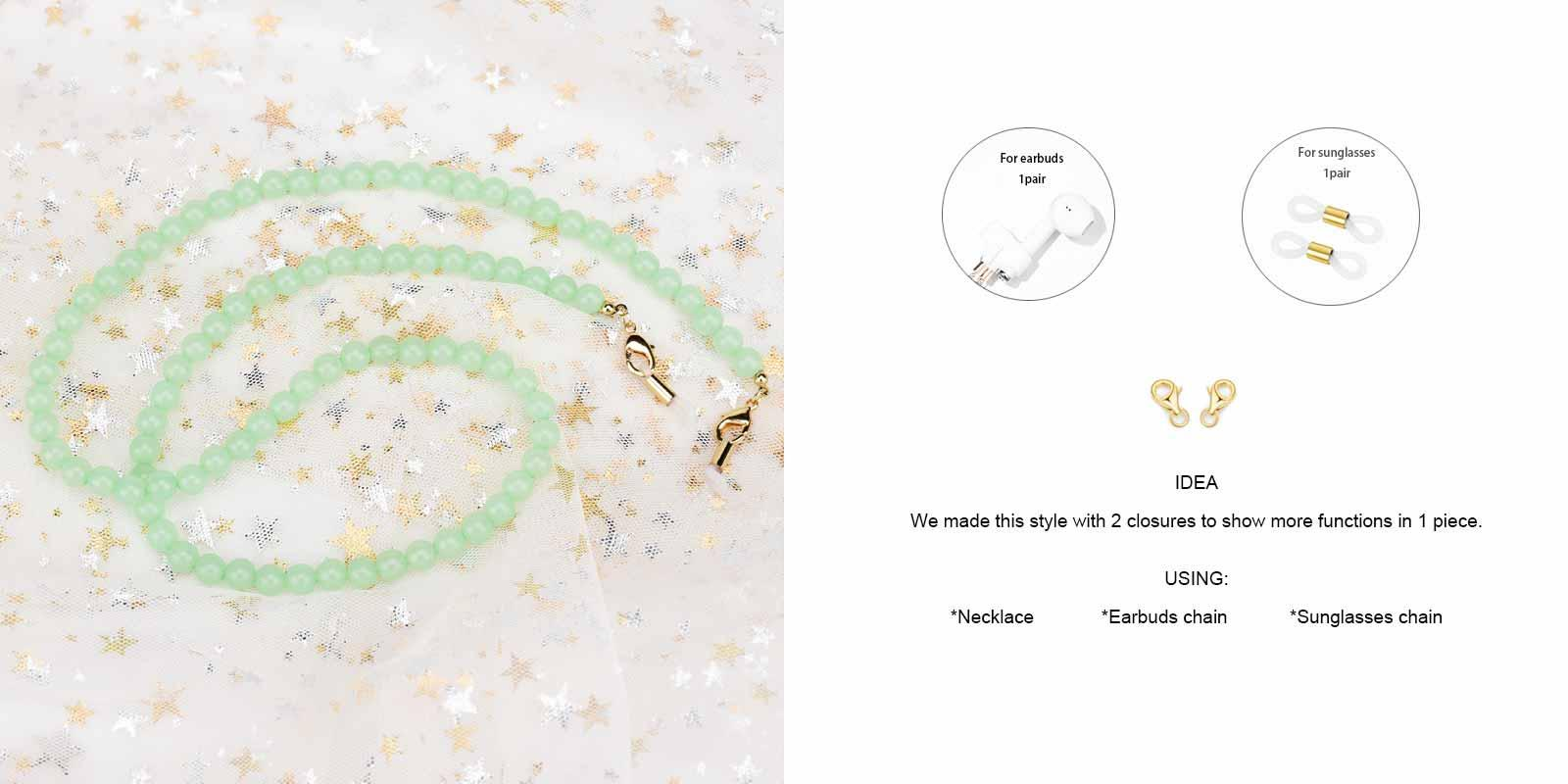 Joy Glasses Chain-Green--Plastic-other-detail