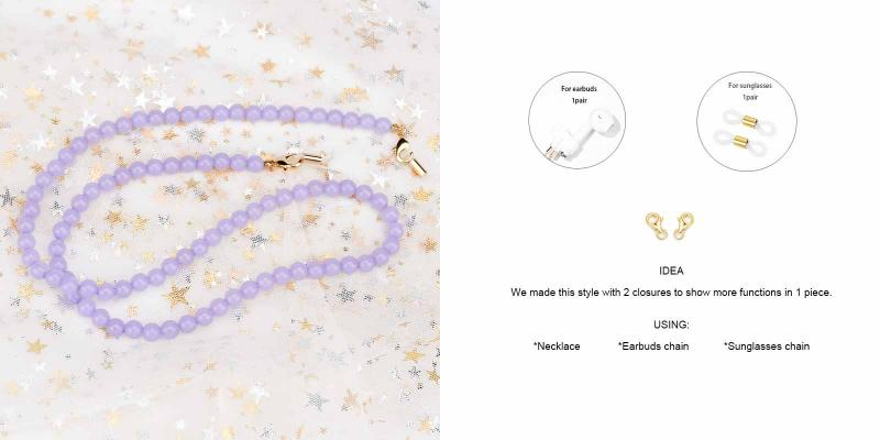 Joy Glasses Chain-Purple-other