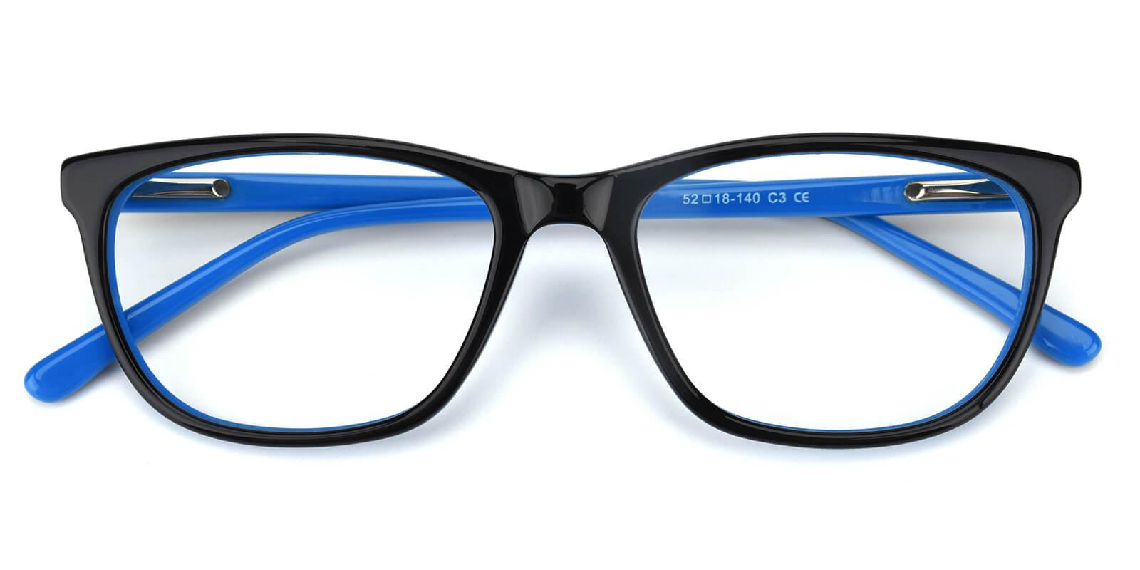 Emblem-Blue-Square / Cat-Acetate-Eyeglasses-detail