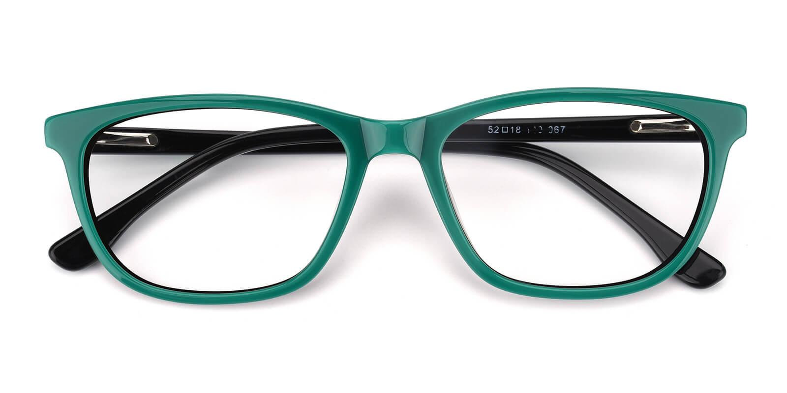 Emblem-Green-Square / Cat-Acetate-Eyeglasses-detail