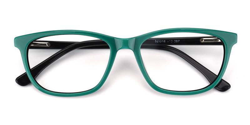 Emblem-Green-Eyeglasses / SpringHinges / UniversalBridgeFit