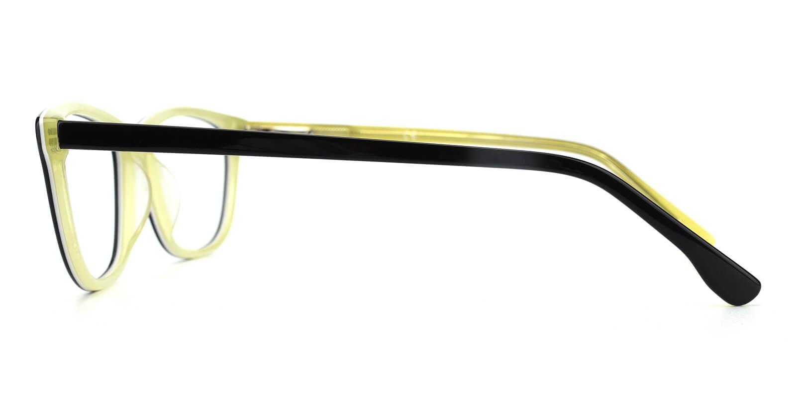 Emblem-Yellow-Square / Cat-Acetate-Eyeglasses-detail