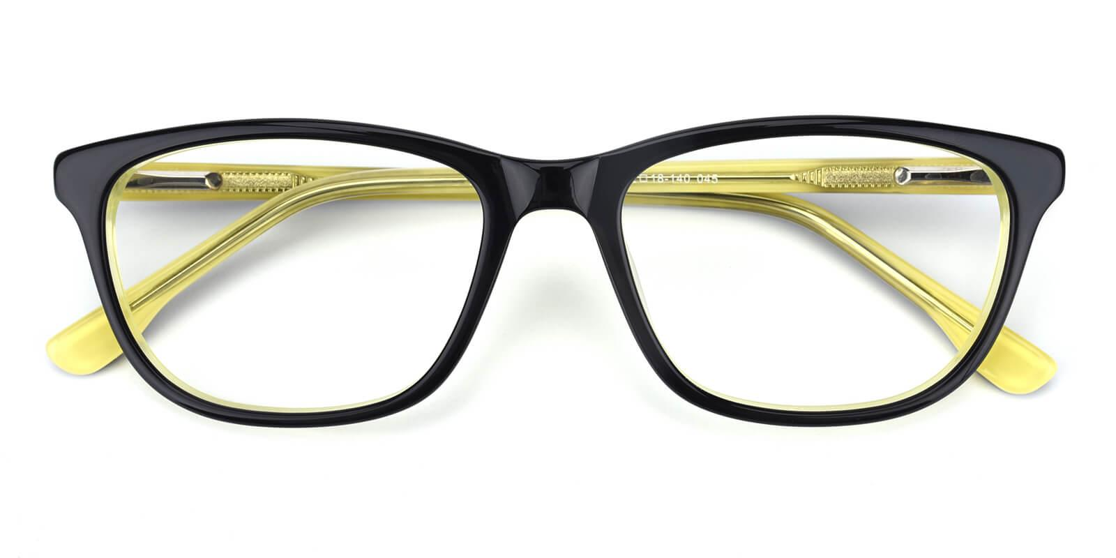 Emblem-Yellow-Square / Cat-Acetate-Eyeglasses-detail