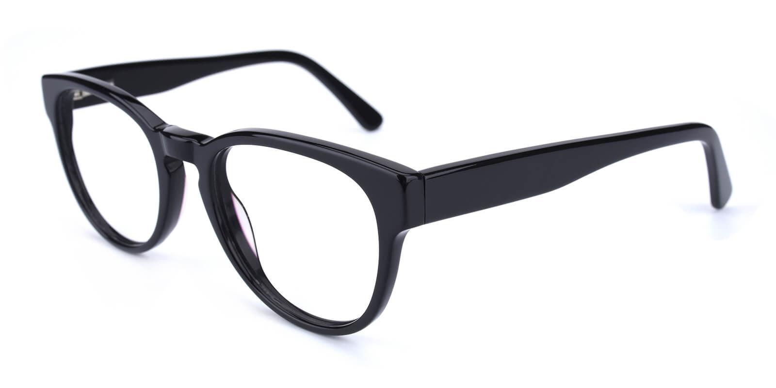 Bringmo-Black-Round / Cat-Acetate-Eyeglasses-detail