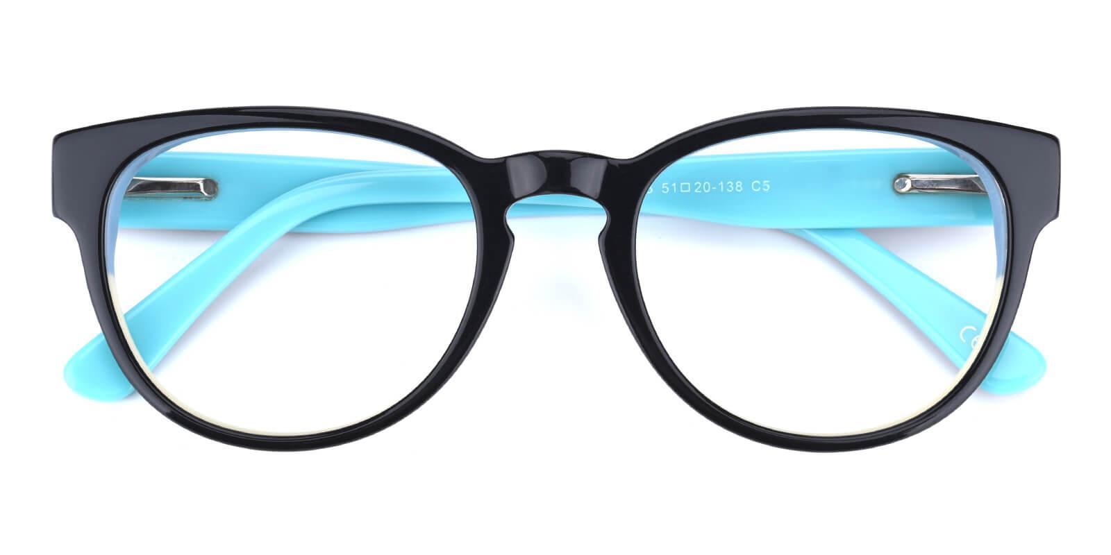 Bringmo-Blue-Round / Cat-Acetate-Eyeglasses-detail