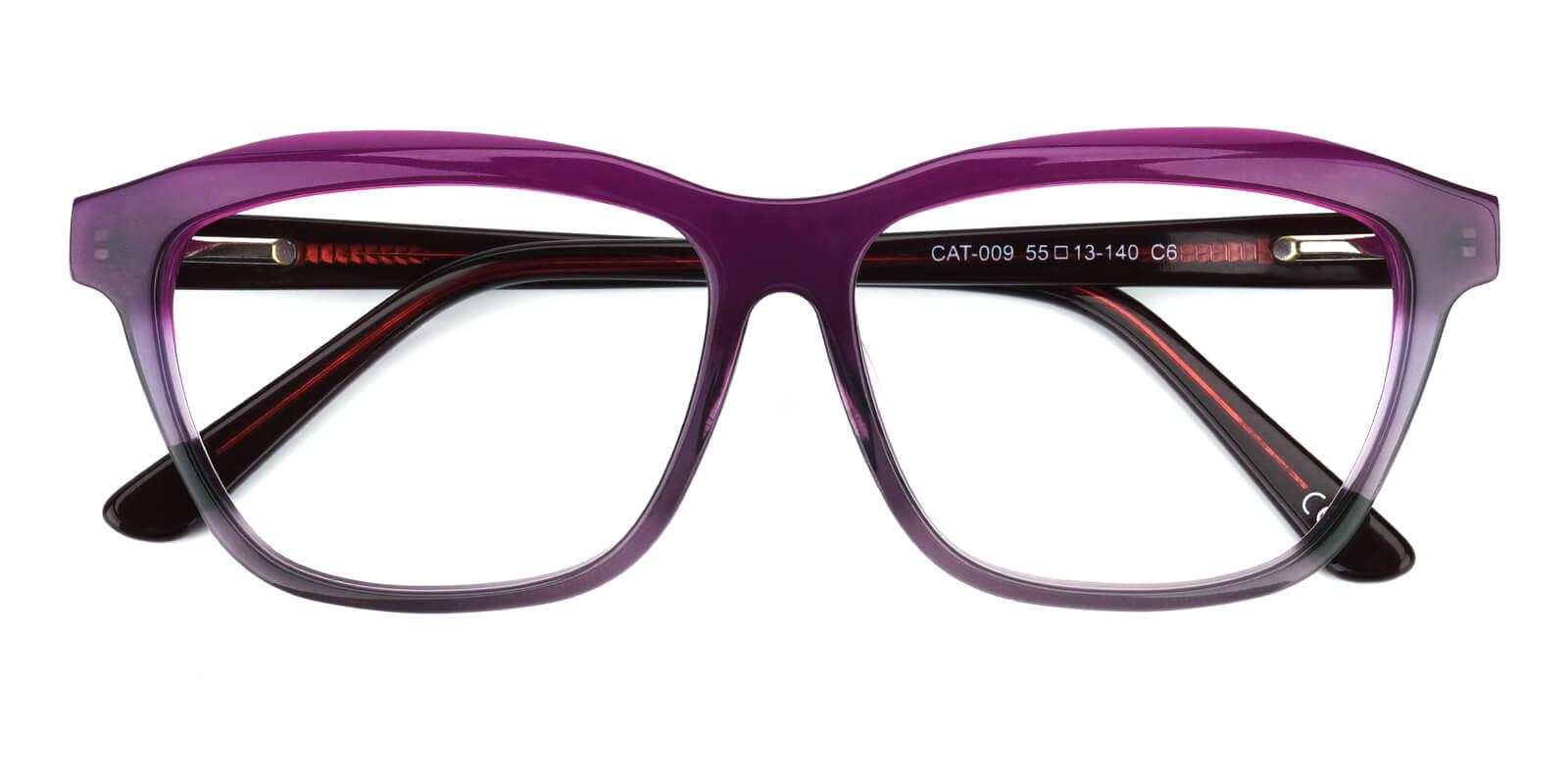 Gate-Purple-Square / Cat-Acetate-Eyeglasses-detail