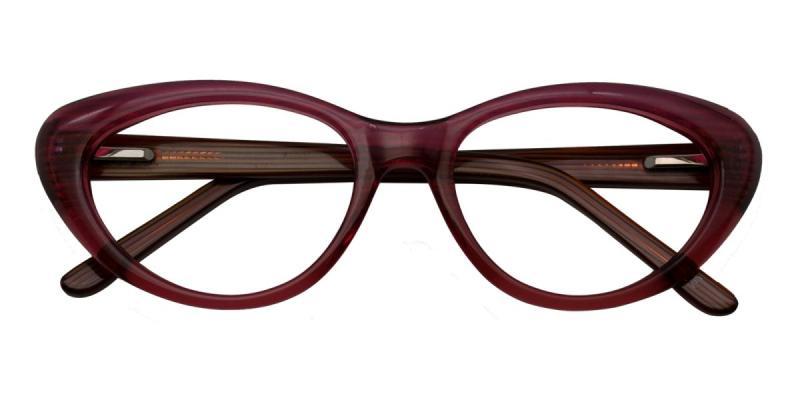 Jeanne-Red-Eyeglasses / SpringHinges / UniversalBridgeFit