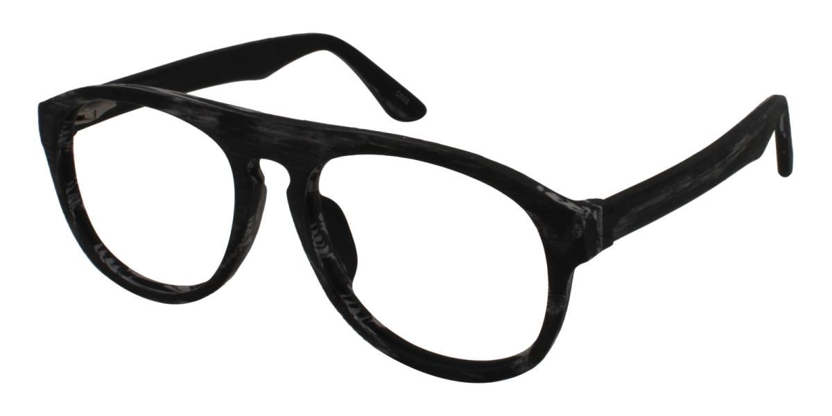 Square Glasses 180710002-Striped-Square-Acetate-Eyeglasses-additional1