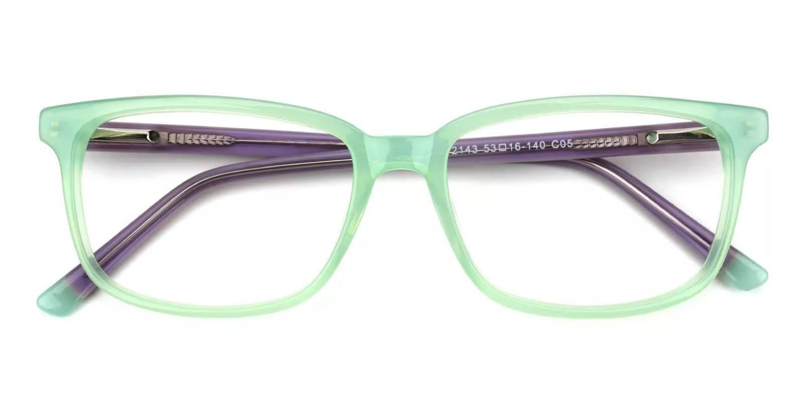 Connotation-Green-Rectangle-Acetate-Eyeglasses-detail