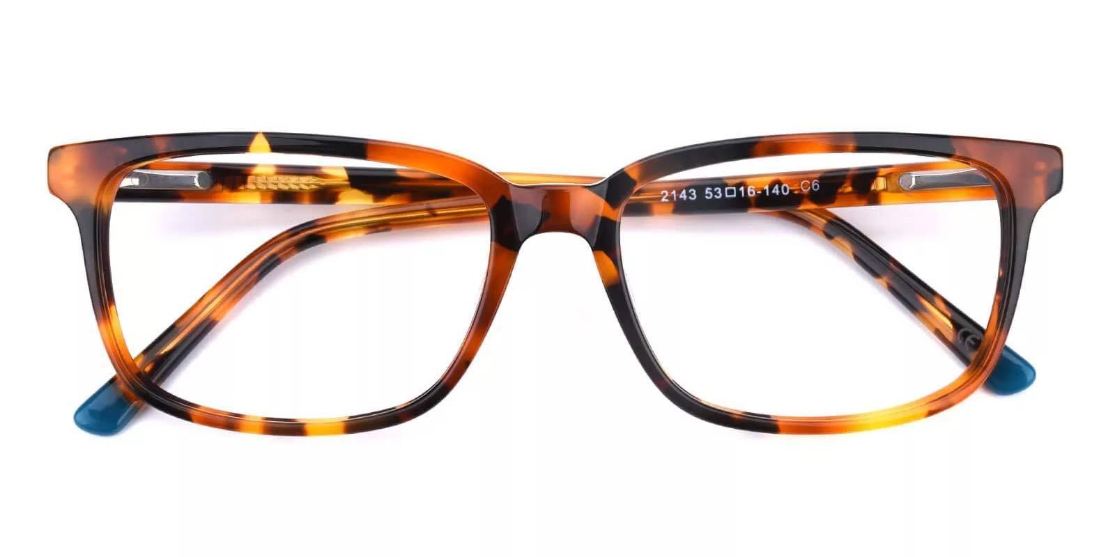 Connotation-Tortoise-Rectangle-Acetate-Eyeglasses-detail