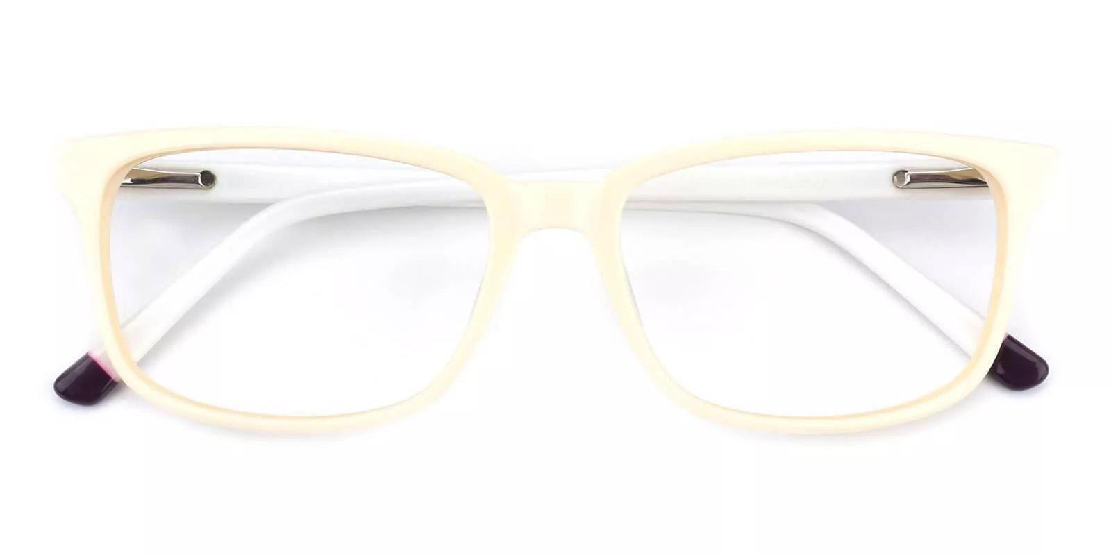 Connotation-White-Rectangle-Acetate-Eyeglasses-detail