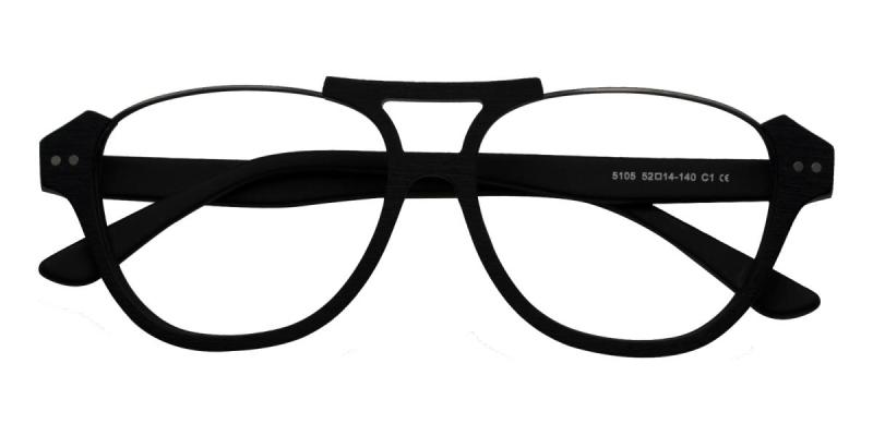 Levant-Black-Eyeglasses / UniversalBridgeFit