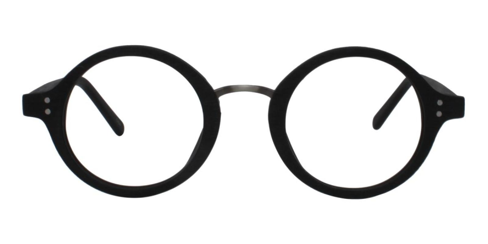 Woodiness-Black-Round-Acetate-Eyeglasses-detail