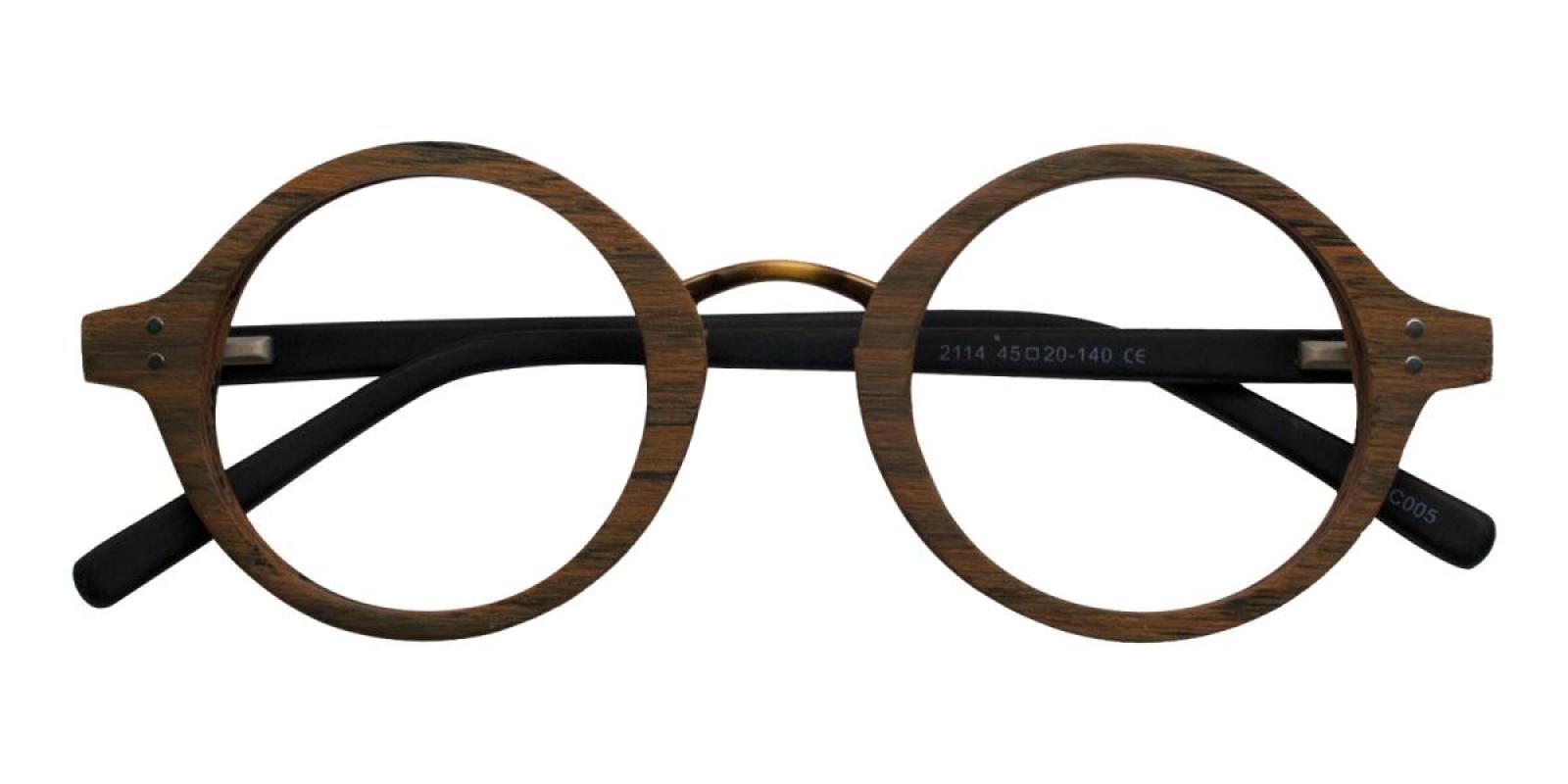 Woodiness-Brown-Round-Acetate-Eyeglasses-detail