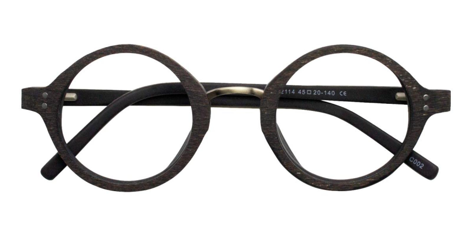 Woodiness-Striped-Round-Acetate-Eyeglasses-detail
