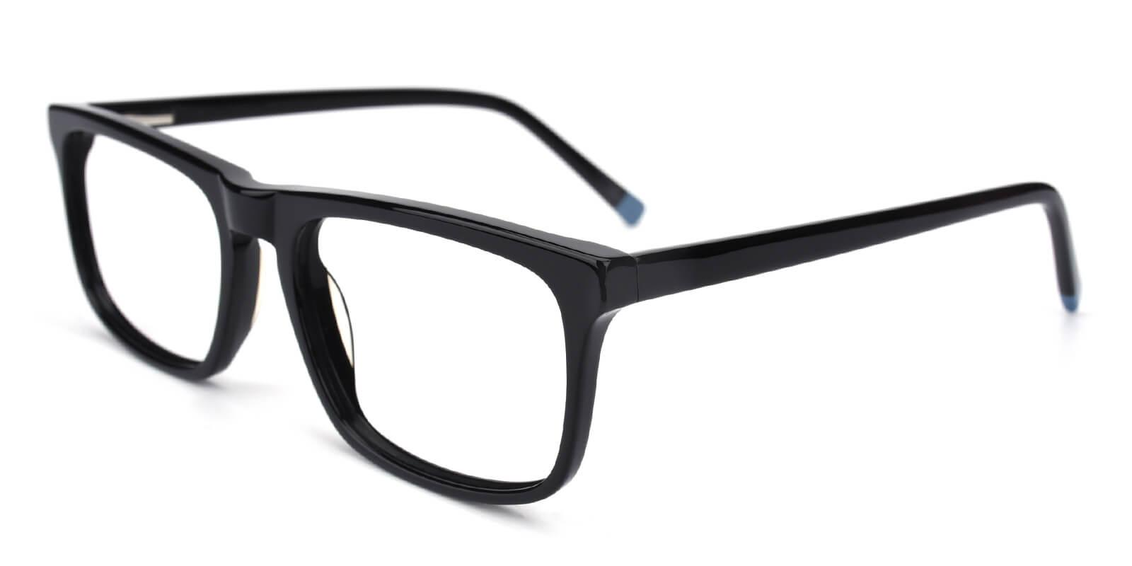 Etched-Black-Rectangle-Acetate-Eyeglasses-detail