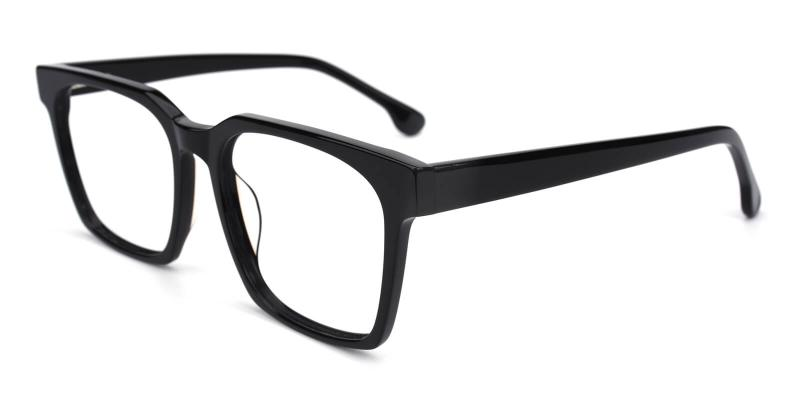 Trapezoid-Black-Eyeglasses