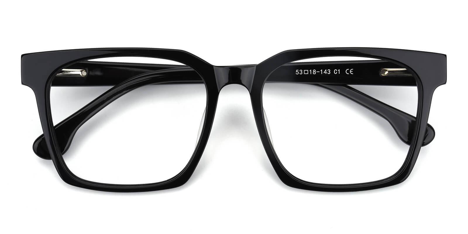 Trapezoid-Black-Square-Acetate-Eyeglasses-detail