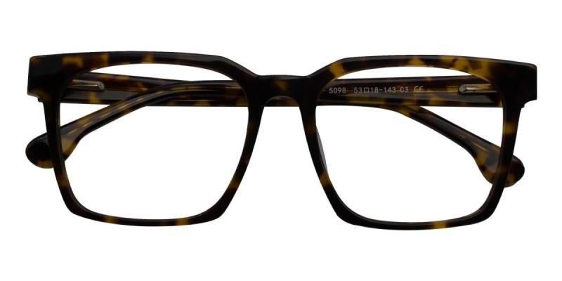 Trapezoid-Tortoise-Eyeglasses / UniversalBridgeFit