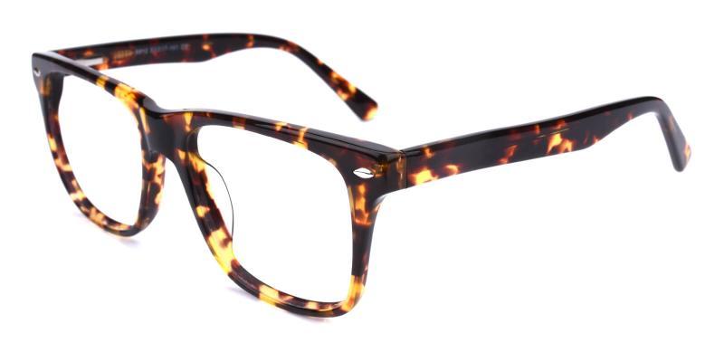 Bridinry-Tortoise-Eyeglasses / SpringHinges / UniversalBridgeFit