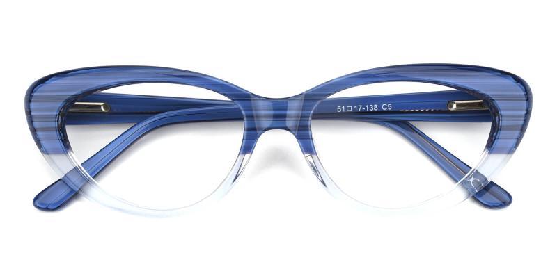Retro-Blue-Eyeglasses / SpringHinges / UniversalBridgeFit