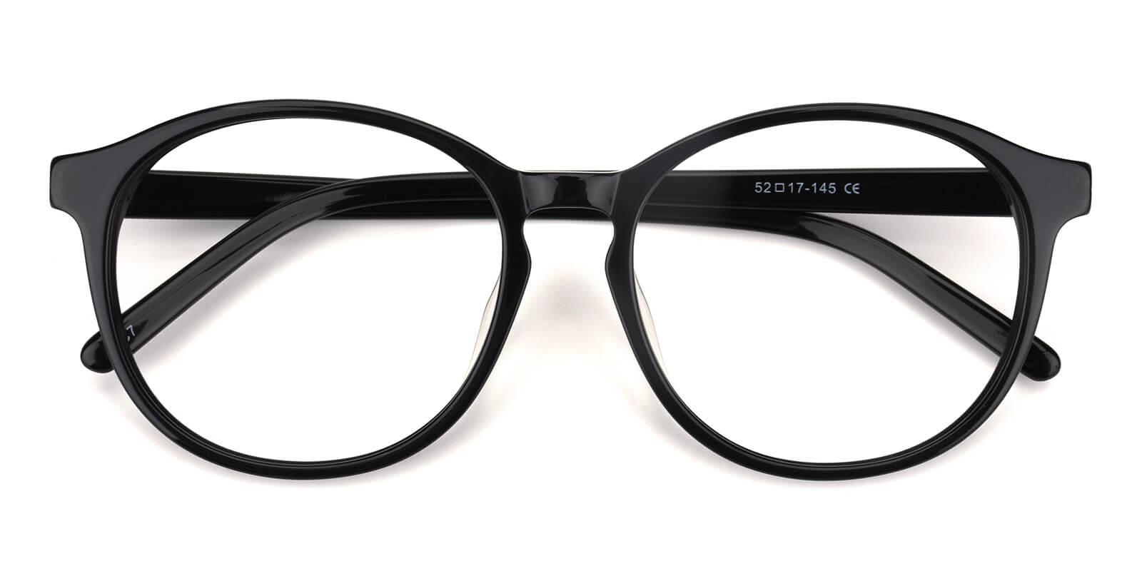Havana-Black-Round-Acetate-Eyeglasses-detail