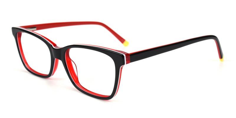Waferay-Red-Eyeglasses / SpringHinges / UniversalBridgeFit