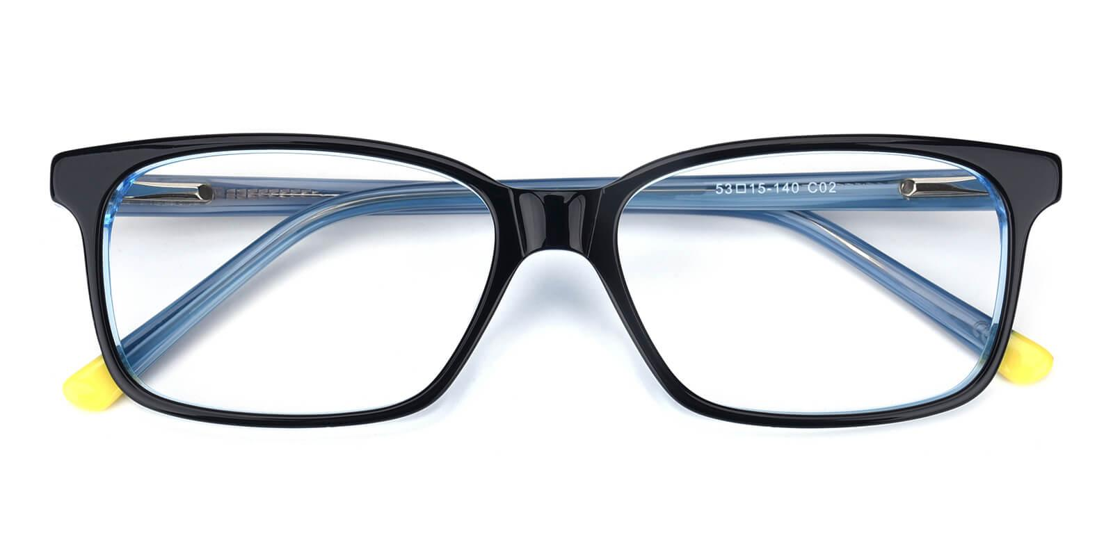 Bolayer-Blue-Rectangle-Acetate-Eyeglasses-detail