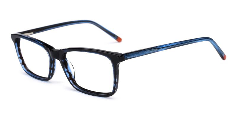 Crane-Striped-Eyeglasses / SpringHinges / UniversalBridgeFit