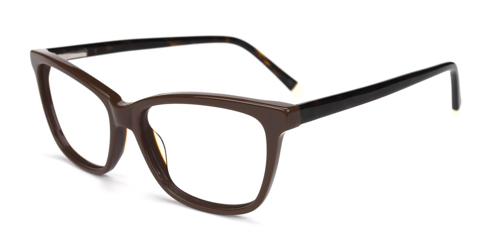 Clowdia-Brown-Square / Cat-Acetate-Eyeglasses-detail