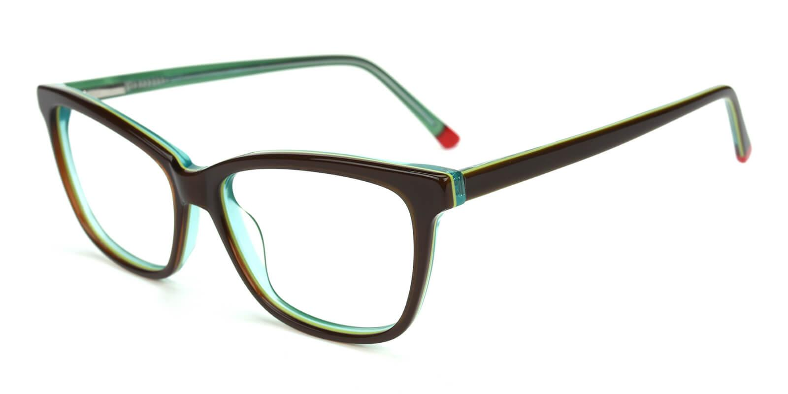 Clowdia-Green-Square / Cat-Acetate-Eyeglasses-detail