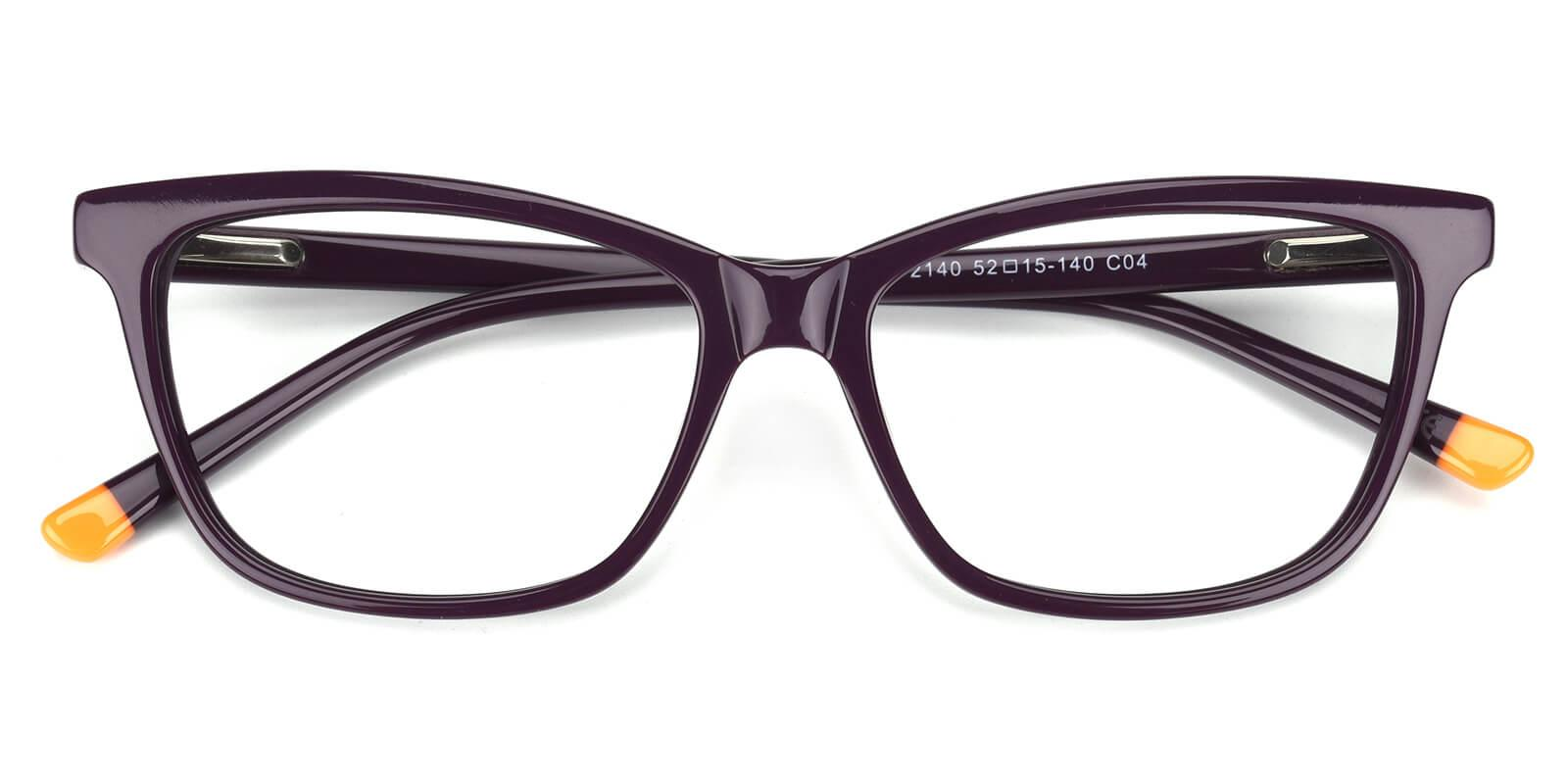 Clowdia-Purple-Square / Cat-Acetate-Eyeglasses-detail