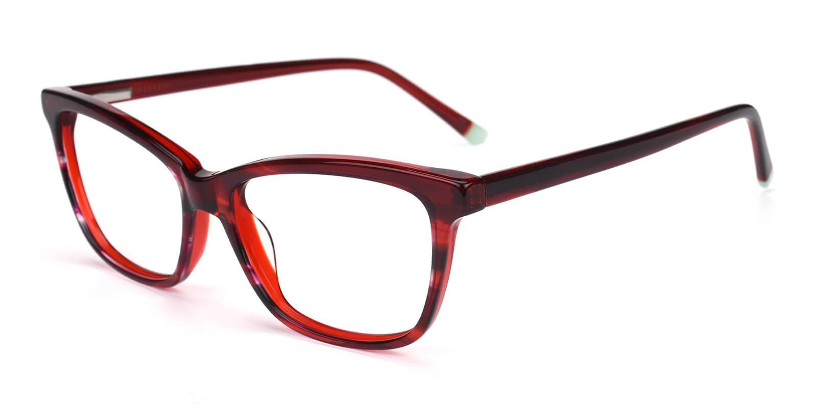 Ezra-Red-Cat / Rectangle-Acetate-Eyeglasses-detail