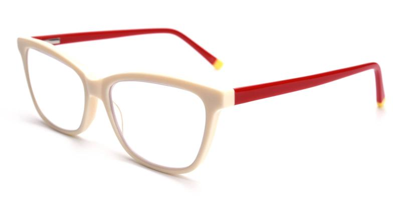 Ezra-White-Eyeglasses / SpringHinges / UniversalBridgeFit