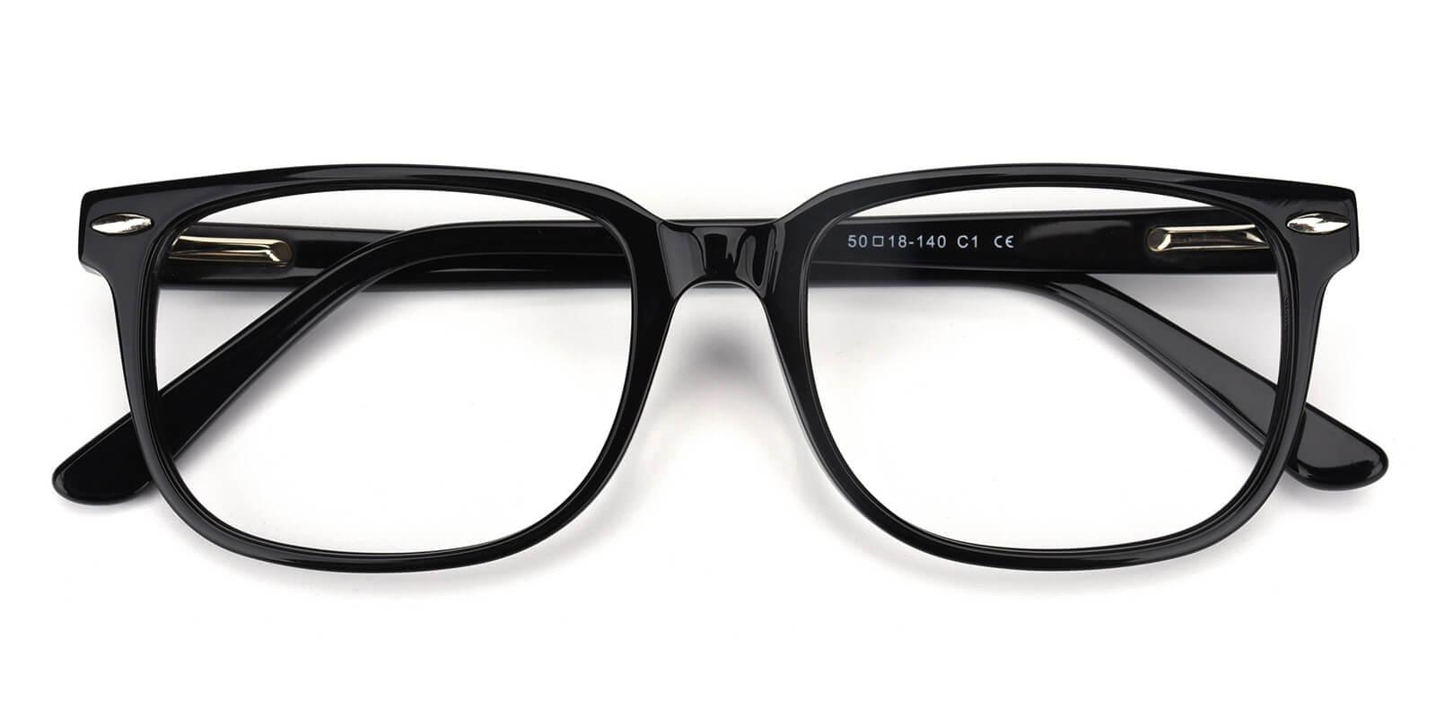 Tempiry-Black-Rectangle-Acetate-Eyeglasses-detail
