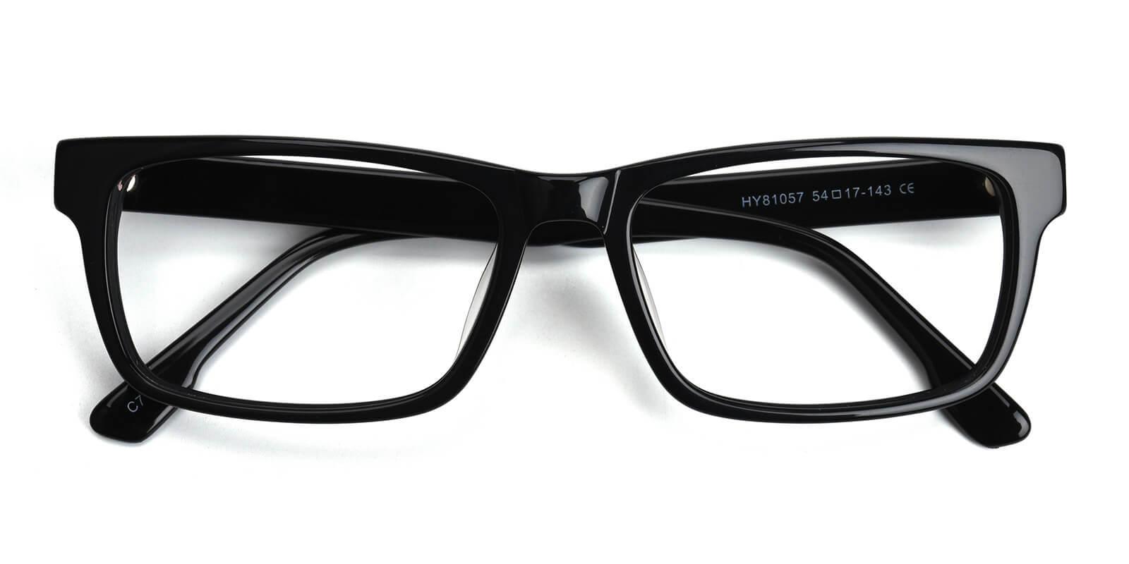 Obsidian-Black-Rectangle-Acetate-Eyeglasses-detail