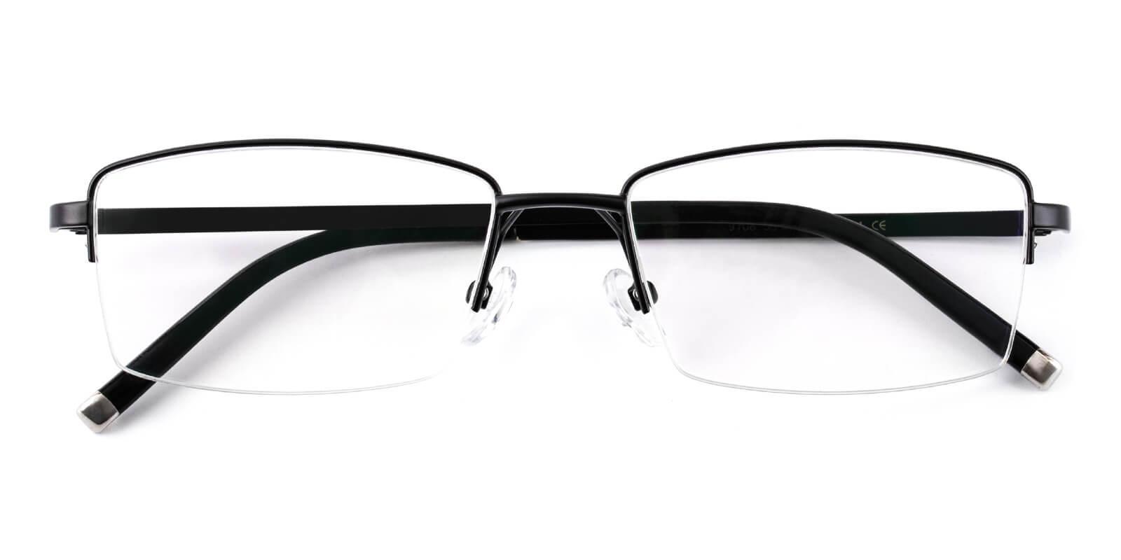 Emerge-Black-Rectangle-Titanium-Eyeglasses-detail
