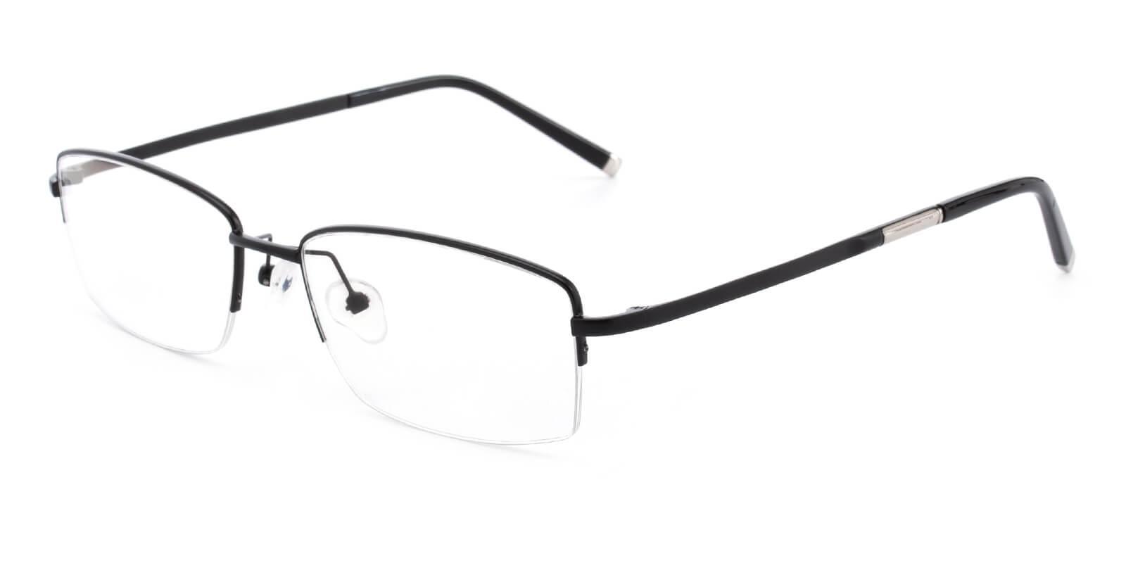 Revelino-Black-Rectangle-Titanium-Eyeglasses-detail