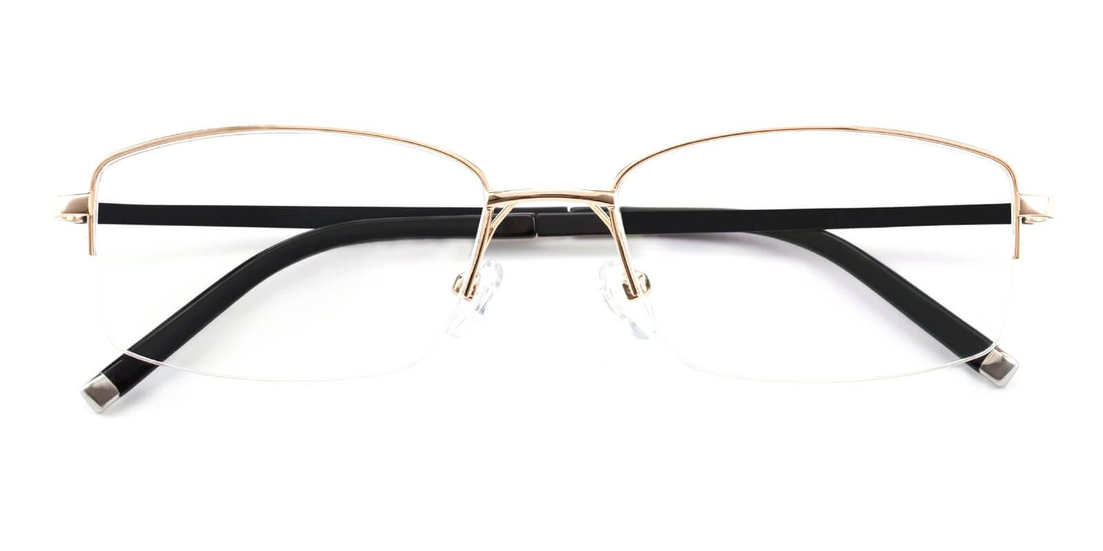 Revelino-Gold-Rectangle-Titanium-Eyeglasses-detail