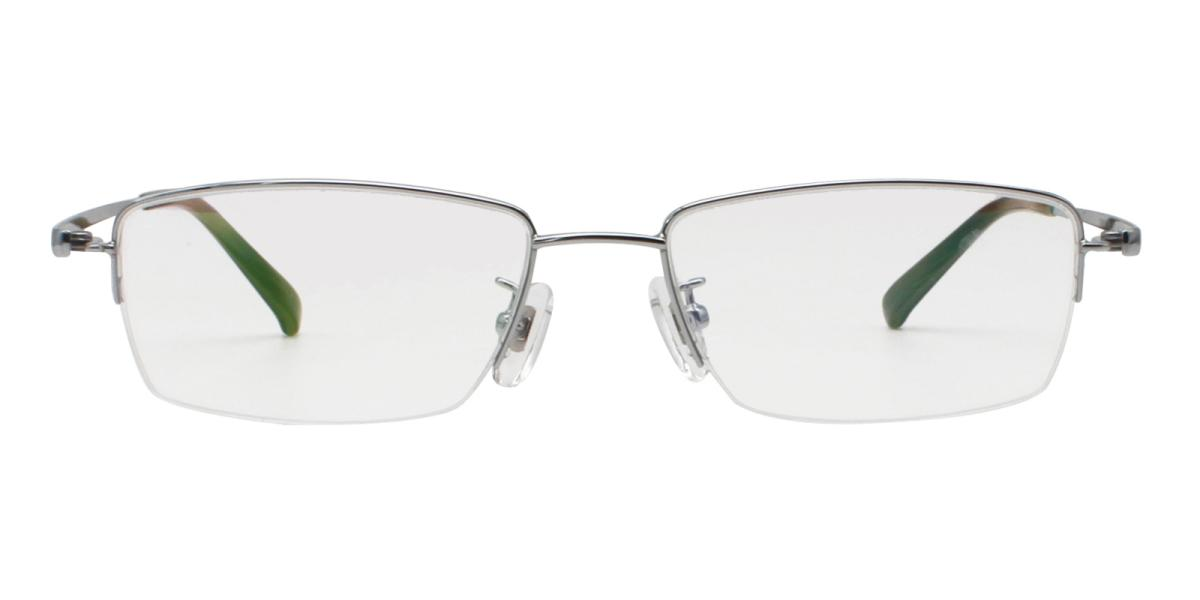 -Silver-Rectangle-Titanium-Eyeglasses-additional2