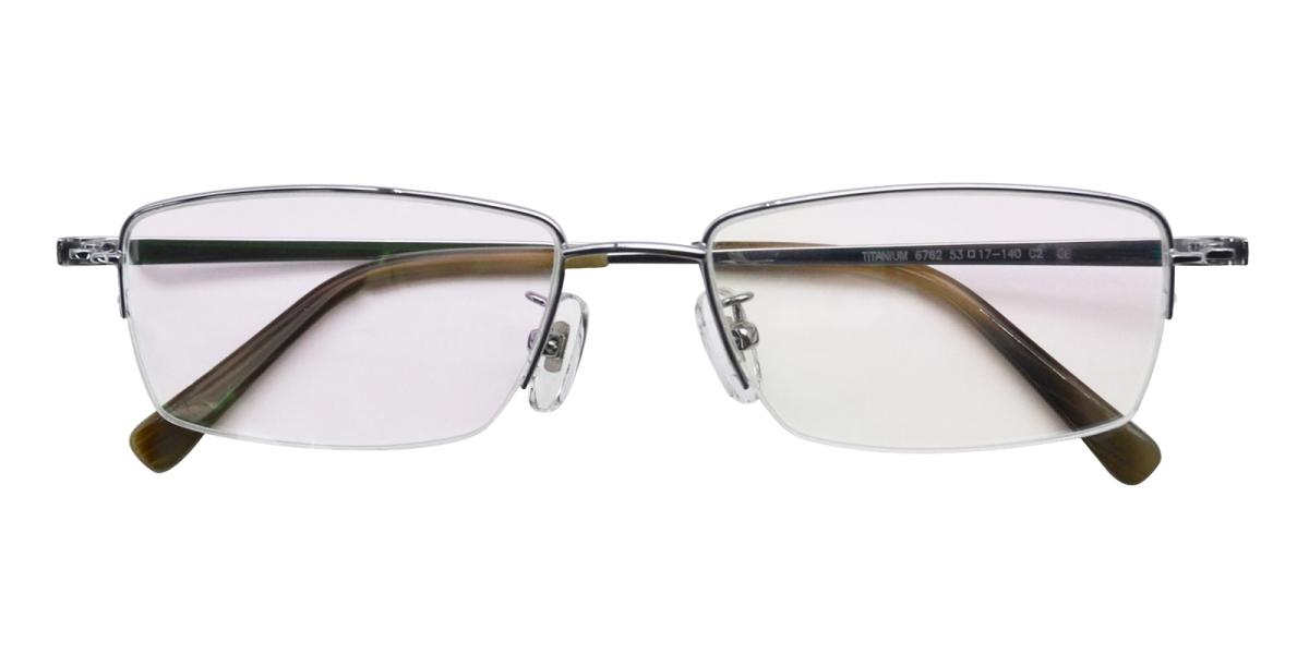 -Silver-Rectangle-Titanium-Eyeglasses-detail
