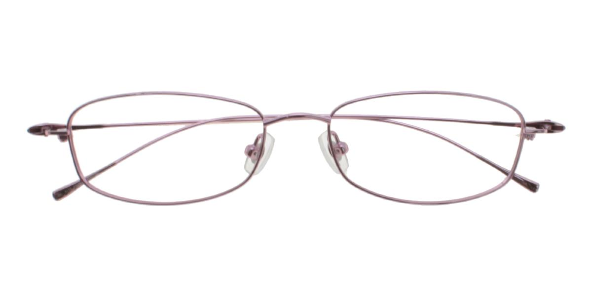 -Pink-Rectangle-Titanium-Eyeglasses-detail