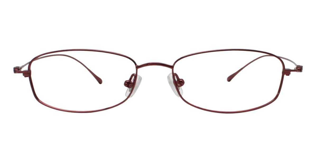 -Red-Rectangle-Titanium-Eyeglasses-detail