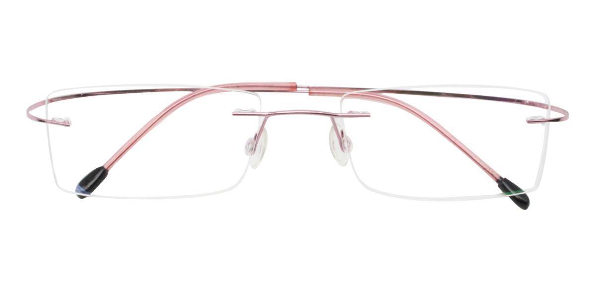Terre-Pink--Metal / Memory-Eyeglasses-detail