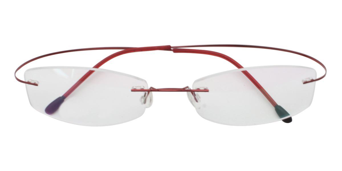 -Red--Metal / Memory-Eyeglasses-detail