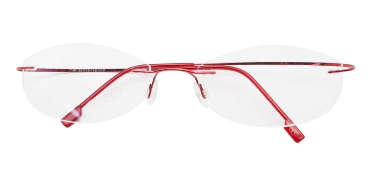 -Red--Metal / Memory-Eyeglasses-detail