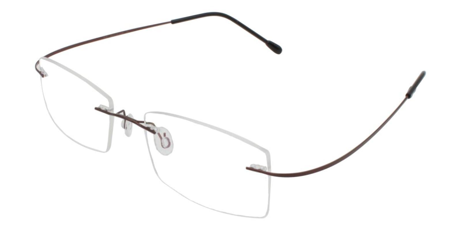 Slimly-Brown-Varieties-Memory / Metal-Eyeglasses-additional1